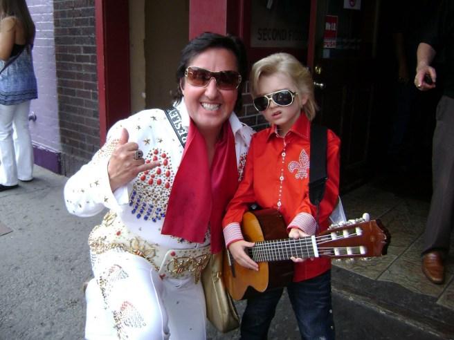 Nashville Elvis Impersonator Chuck Baril & Little Elvis Gabriel Jarrett